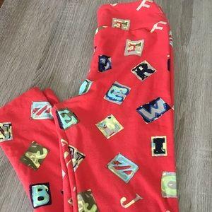 LuLaRoe letter leggings
